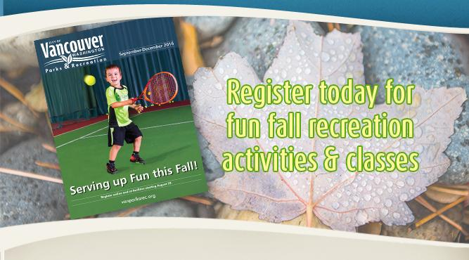 Register today for fun fall recreation activities & classes! Get more information.